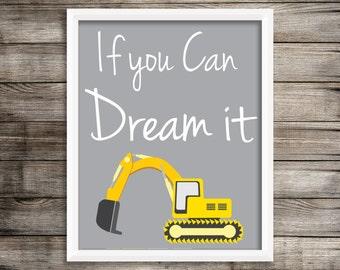 If you can dream it 8X10 Digital Print Kids Wall Art ~ Digital Download.