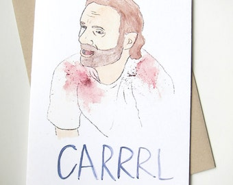 Rick// CARRRL //The Walking Dead Card