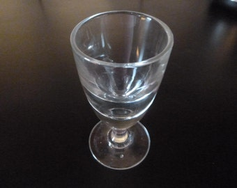 French Antique Absinthe Glass Blown Unpolished Pontil Circa 1905 Bistro Cafe Glasses ABO3