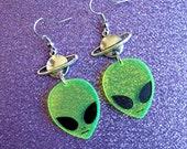 alien planet earrings