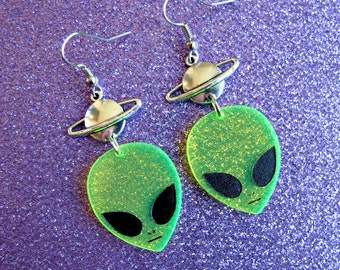 alien planet earrings