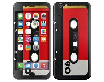 CASSETTE TAPE iPhone Decal iPhone Skin iPhone Cover iPhone 6 Skin, iPhone 6 Plus Decal iPhone 6S Skin iPhone 6S Decal Cover iPhone 5 5S