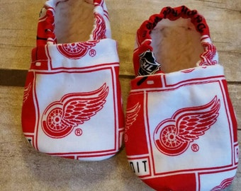 Detroit Redwings Inspired Baby Booties