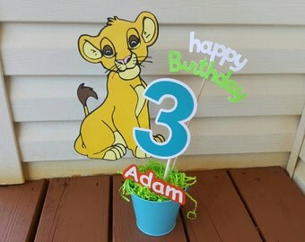 Large Personalized Lion party centerpiece any character