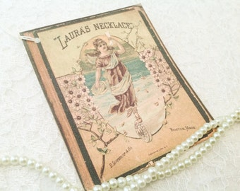 Vintage Book Tag Label-Laura's Necklace Gift Tag-Set of 6