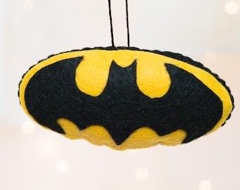 Felt Batman Ornament - Felt Superhero Ornament