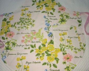 Ladies Apron made using Vintage Bedsheet