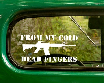 2 From My Cold Dead Fingers Decals AR-15 2nd Amendment Sticker For Car Truck Rv Jeep Bumper Bulk Window laptop 4x4