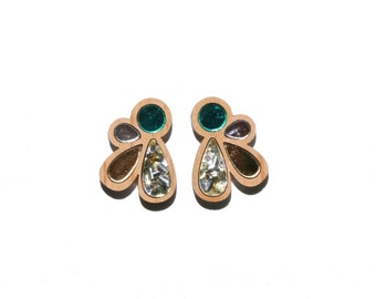 Cluster Studs - Green