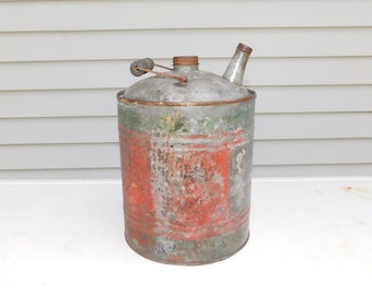 Vintage/Antique Empty Gas Can Fuel Can Gasoline
