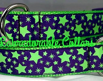 Dog Collar Glow in the Dark Star Dog Collar Glow in the Dark Dog Collar