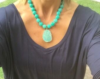 Jade and Amazonite Necklace