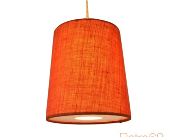 Hessian Cone Shape Lightshade & Diffuser Various Colours Orange Blue Red White Natural Green Cream Purple