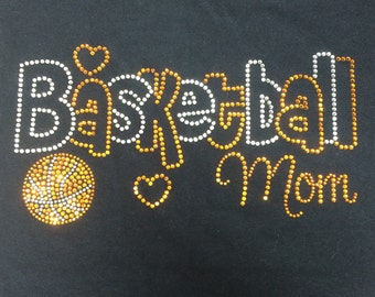 Basketball Mom Sweatshirt Hoodie • Rhinestone • Sparkle • Bling