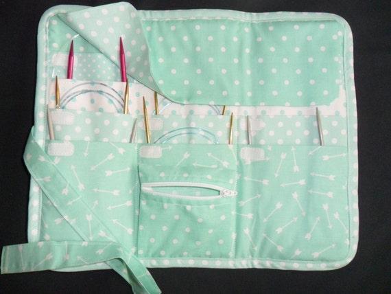 Circular Knitting Needle Storage Organizers : Circular knitting needle organizer case storage holder holds