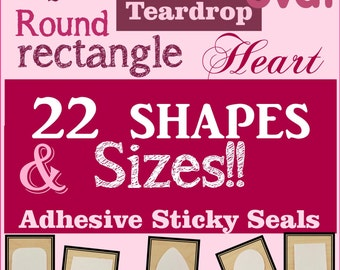 100 - Adhesive Sticky Shapes, Dry Adhesive for Glass Pendants, Alternative to Glue, Dry Adhesive Glass to Pendant Trays -2 Sided Stickers