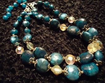 Vintage 1950s Lady Sings In Blues Vintage Necklace