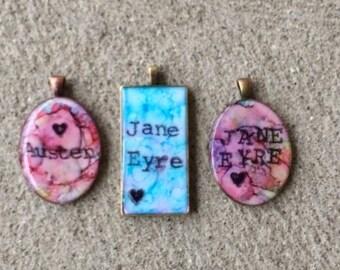 Handmade Jane Eyre Jewelry - Mr Rochester Necklace - Handmade Bronte Jewelry - Handmade Jane Austen Jewelry
