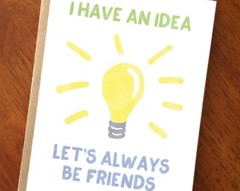 Cute Friendship Card; Let's Always Be Friends; Best Friend Card; Best Friend Birthday