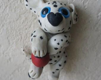 Cutie Critter - Handsculpted Dalmation Puppy, Dog, Dalmation, Puppy, Dog Art, OOAK, Handmade,