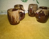Brown Drip Handled Shot Glasses, Mugs Look Like Miniature Coffee Cups