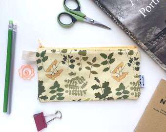 Field Guide to Trees Divided Pencil Case  (handmade philosophy's pattern)