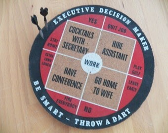 Vintage Executive Decision Maker Dart Board in Excellent Condition