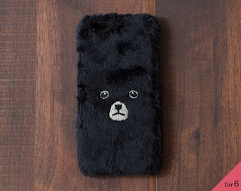 Bear iPhone Cover for iPhone6 / 6s [hard type] Brack