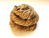 STRAW INTO GOLD - Handspun Luxury Single-Ply dk-Weight Yarn made of Muga Silk, Mulberry Silk, Baby Camel Down, and Kid Mohair Locks