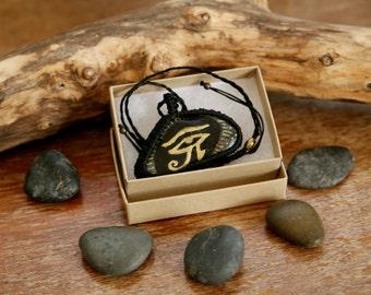 Eye Of Horus necklace ~ Evil eye charm ~ Protective necklace ~ hand drawn necklace ~ Healing necklace ~ Primitive necklace pendant ~ pendant