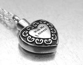 Cremation Necklace, With Me Always Heart Urn, Urn Locket, Ashes Holder Necklace, Cremation Locket, Memory Locket, Cremation Jewelry