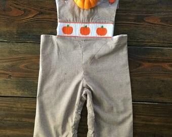 Sale! Peter Pumpkin Smocked Longall