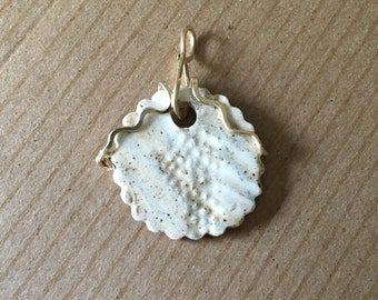 Rustic Pendant with a Splash of Gold Filled Wire