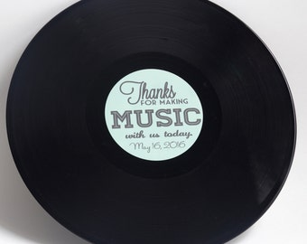 "Custom 12"" Vinyl Record Wedding Guestbook | Record Label | 12"" Vinyl"