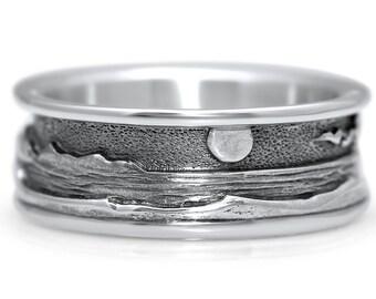 Sterling Silver Beach (Ocean) Ring
