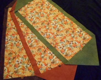 10 Minute table runners/ fall table runner/ Holiday table runners/ Thanksgiving table runners