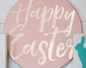 DIY Happy Easter Sign ***Stencil or Lettering Only***