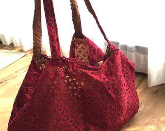 Hand Made Canvas Tote Bag