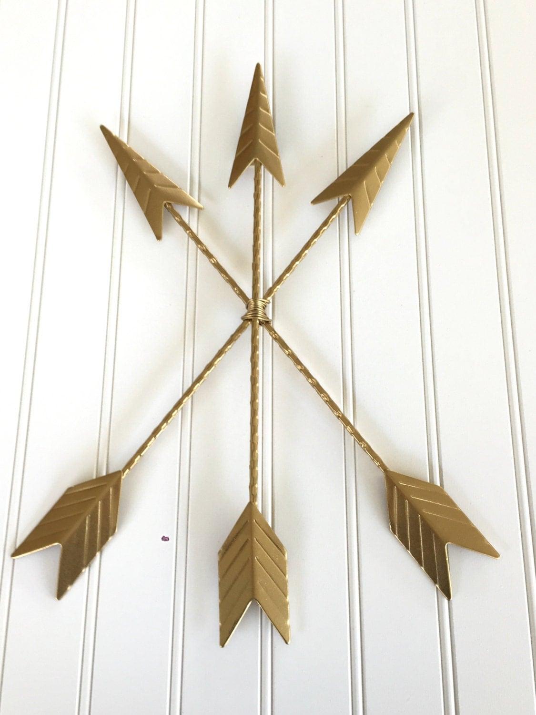 Kohls Arrow Wall Decor : Gold arrow wall hanging decor boho nursery