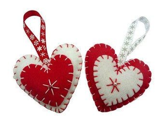 Hanging Hearts Christmas Tree Decoration