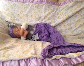 NB Mermaid Crochet Outfit