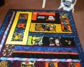Star Wars Hand Crafted Quilt and pillow set