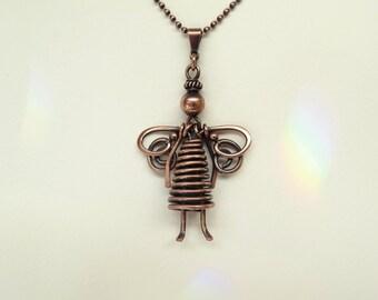 30% OFF! Small Angel  Pendant/Necklace, Handmade, Copper, Copper Chain