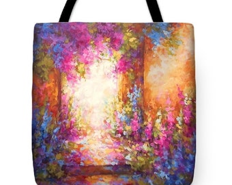 impressionist italy provence art painting tote bag, art painting landscape a tote bag purse,