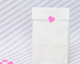 Tall White Paper Bags
