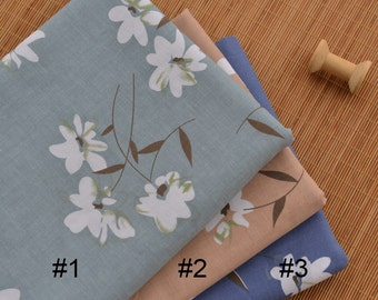 Floral Linen Cotton Fabric MJ458
