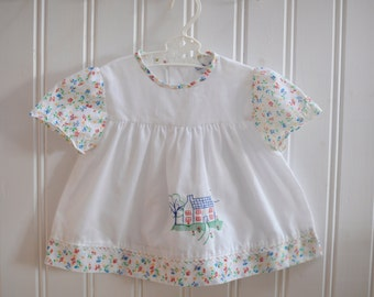 Vintage Baby Dress, Baby Dress, Summer Baby Dress, Retro Baby Dress