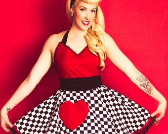 Retro Costume Apron Sexy Extra Full Circular Skirt Queen of Happy Hearts Apron