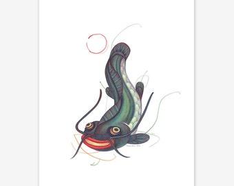 Namazu Mythical Creature Print A5