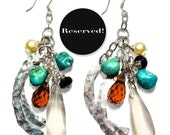 RESERVED - Turquoise Dangle